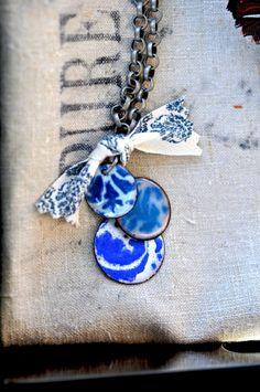Mini Wedgewood - Enamel Necklace by bullfinchbarbury $60.00