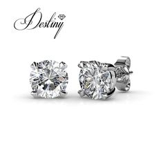 6a681fae1 Destiny Jewellery Embellished with crystals from Swarovski earrings  sweetheart Earrings oorbellen DE0139-in Stud Earrings from Jewelry &  Accessories on ...