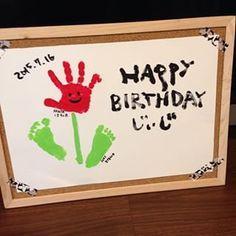 Birthday Activities, Toddler Activities, Diy And Crafts, Crafts For Kids, Arts And Crafts, Birthday Presents, Birthday Cards, Footprint Art, Mother Birthday