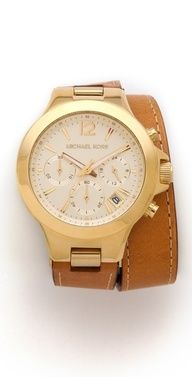 Gold wrap watch #watches #style