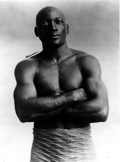 "Jack Johnson, aka the Galveston Giant, American professional boxer. At the height of Jim Crow, he became the 1st African-American world heavyweight boxing champion. Afterwards, racial animosity among whites ran so deep that it called out for a ""Great White Hope"" to take his title; this led to the ""Fight of the Century"" w/ white former undefeated champ, James Jeffries. Johnson's winning triggered race riots, as whites were humiliated by the defeat, leading to 13 deaths & hundreds injured…"