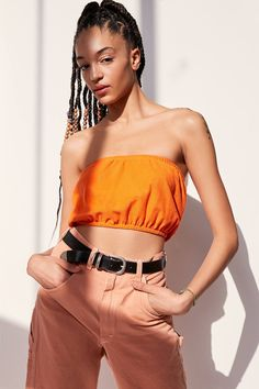 Urban Renewal Remade Polo Tube Top   Urban Outfitters