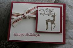 Rosebud Quilting: Hand Stamped Christmas Cards