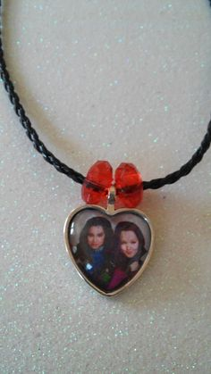 Descendants Mal and Evi Heart Pendant Necklace. Fast by ArtBows