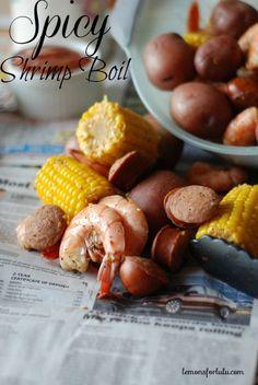 Spicy Shrimp Boil #ShrimpShowdown - Lemons for Lulu