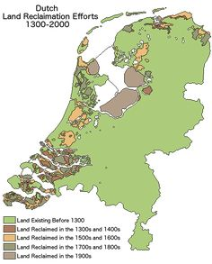 Land Reclamation in the Netherlands 1300 Vs 2000 – Brilliant Maps Historical Pictures, Historical Maps, Holland Map, Netherlands Map, Liberal Education, Map Diagram, New Amsterdam, Nature Gif, Fantasy Map