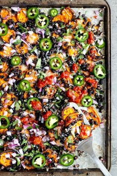 Loaded Sweet Potato Nachos - seasoned baked rounds topped with black beans, jala. Loaded Sweet Potato Nachos – seasoned baked rounds topped with black beans, jalapeños, onions, c Vegetarian Recipes Easy, Mexican Food Recipes, Cooking Recipes, Healthy Recipes, Vegan Sweet Potato Recipes, Fall Recipes, Vegetarian Mexican Appetizers, Vegetarian Protein Meals, Vegetable Recipes