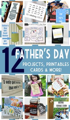 12 Fabulous Father's Day Projects, Printables, Cards and More!