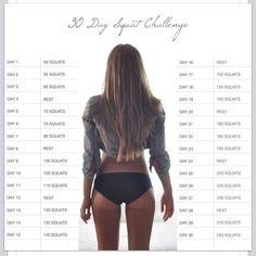 30-day squat challenge, ready, set, go!