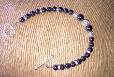 Pink Pearl & Diamante Bracelet - Bridal Jewellery - Bridesmaids Gifts…