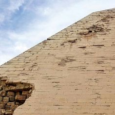 the Bent pyramid.. the remaining Outer casing structure of the pyramid at Dahshour, Egypt.
