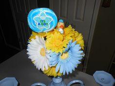 Blue Centerpiece Chandy Cupcake  Stand by Lindagodi on Etsy, $59.00