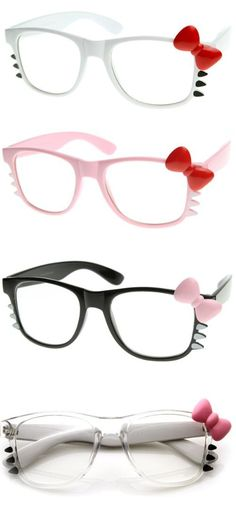 Hello Kitty Glasses , too cute ! Hello Kitty Outfit, Hello Kitty Items, Sanrio Hello Kitty, Hello Kitty Things, Hello Kitty Crafts, Hello Kitty Clothes, Hello Kitty Jewelry, Hello Kitty Accessories, Kawaii Accessories