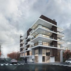 Commercial Building - 3D Architectural Visualization on Behance
