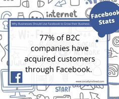 77% of #B2C companies have acquired customers through #Facebook.Get Your Share! https://yoursocialplan.com/#utm_sguid=106968,86147226-5843-1ba8-539a-512f54206dc6