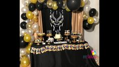 Black Panther Birthday Party | Wakanda party| Black panther party ideas|...