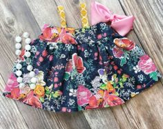 Floral Summer Top - Hattie Floral Top - Girls Babydoll Shirt