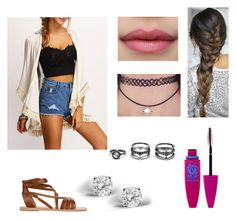 """Untitled #594"" by ray-dany ❤ liked on Polyvore featuring Glitzy Rocks, LULUS, Maybelline and Ancient Greek Sandals"