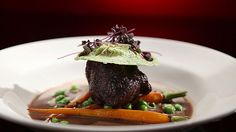 MKR4 Recipe - Braised Beef Cheeks with Pumpkin and Spinach Ravioli and Baby Carrots