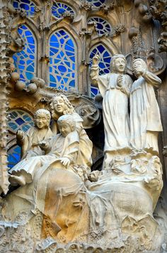 Sagrada Familia detail | Barcelona - La Sagrada Familia (Gaudi), Exterior, Facade Details -005 ...