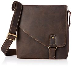 Visconti Hunter Oiled Distressed Leather Messenger Should...