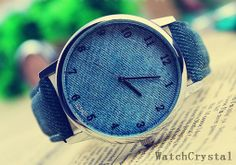 Unisex watchBlackBlue Wrist Watch SWF0034 by watchcrystal on Etsy, $13.99
