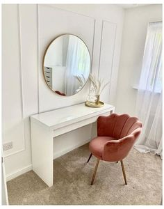Room Design Bedroom, Small Room Bedroom, Room Ideas Bedroom, Home Room Design, Home Decor Bedroom, Bedroom Table, Dressing Table With Chair, Dressing Room Decor, Dressing Room Design