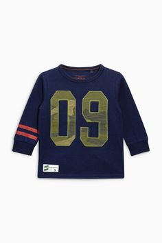 Buy Navy Long Sleeve 09 T-Shirt (3mths-6yrs) online today at Next: United States of America