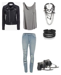 """""""Untitled #222"""" by sweet-strawberry-fairy ❤ liked on Polyvore featuring Cheap Monday, Yves Saint Laurent, Sif Jakobs Jewellery, IRO and River Island"""
