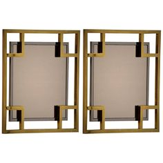 Maison Jansen Pair of Wall Mirror, 1970 | From a unique collection of antique and modern wall mirrors at https://www.1stdibs.com/furniture/mirrors/wall-mirrors/