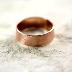 Rose Gold Men's Wedding Band Brushed Matte Men's 7mm by TheSlyFox