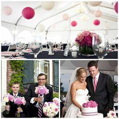 Beautiful navy blue & pink wedding via PaigeSimple.com | photo credit AMWstudios