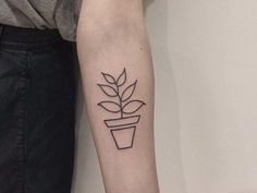 This artist's simple linework tattoos are your best doodles come to life in an AMAZING way