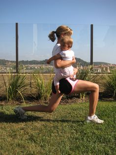 Workout with baby - butt and thighs