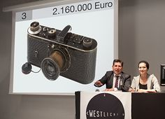 21st WestLicht Photographica Auction May 2012: The hammer goes down for the Leica 0 Series, the most expensive camera ever sold! Image Courtesy of WestLicht Photographica Auction. WestLicht Camera Auction (June 11, 11am CEST) & Photo  Auction (June 10, 5pm CEST) in Vienna: Calling for Entries of Exceptional Rarities or Entire Collections of Cameras & Photographs: Submit Entries before the End of March 2016