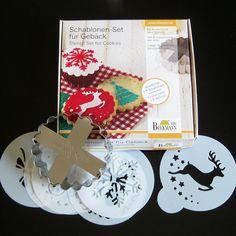 Christmas Cookie Cutter Stencil Set