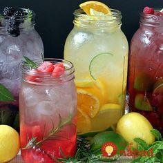 """Naturally Flavored Water -- An easy formula for making an endless variety of fruit and herb infused waters. Say goodbye to soda, juice, and bottled water with these refreshing, healthy """"Refreshing fruit infused water"""" flavors! Refreshing Drinks, Summer Drinks, Fun Drinks, Healthy Drinks, Healthy Snacks, Beverages, Healthy Eating, Healthy Recipes, Healthy Water"""