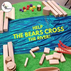 Preschool stem - A fun activity which we used to develop the use of positional language! Preschool Science, Preschool Classroom, Preschool Learning, Classroom Activities, Preschool Camping Theme, Bear Theme Preschool, Construction Theme Preschool, Creative Curriculum Preschool, Preschool Library