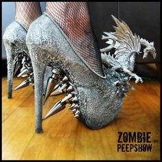 Metallic Dragon Spike Heels by kaylastojek on Etsy