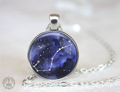 Scorpio Constellation Pendant Necklace   Scorpio Necklace Constellation Jewelry Galaxy Necklace Zodiac Necklace Outer Space Stars Astrology by AgeOfAkuarius on Etsy