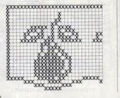 Barrados de Croche: Barrado Pera Filet Crochet, Easy Crochet, Crochet Stitches, Crochet Patterns, Crochet Tablecloth, Crochet Doilies, Crochet Flowers, Crochet Boarders, Crochet Squares