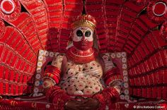 "Photo © Barbara Colbert - All Rights Reserved   Theyyam is also known as the ""Dance of Gods"", which is unique to the folk culture of Kera..."