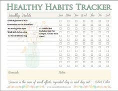Naturally Nicole's Healthy Habit Tracker by NaturallyNicoleXO Healthy Kids, Healthy Habits, Arc Planner, Bullet Journal Printables, Eat Breakfast, Health Coach, Fitness Tips, Homeschool, Create Yourself