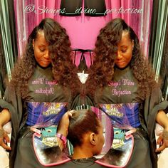 2 Part Flip Over Method Sew In  (817)714-8362 Arlington Tx Booking done online ONLY at: www.styleseat.com/shalandawilliams2