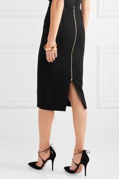 Roland Mouret - Arreton Wool-crepe Pencil Skirt - Black - UK