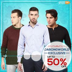Bestselling Exclusive #MensWear is now available at never before seen prices. UPTO 50% OFF--> http://www.jabongworld.com/men/shopby/incult_andrew-hill_phosphorus.html?dir=desc&multi_select=true&order=bestsellers
