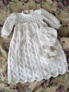 Ravelry: Ocean Breeze Christening Gown by Judy Lamb