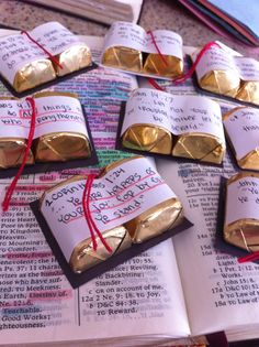 Missionary Package Idea. These are adorable! Little baby candy scriptures. So fun and easy to make!