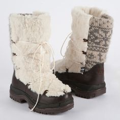 Massak Snow Boot Womens Vanilla, $79 ... could of used these in Minnesota with the ice surge! :-)