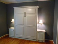 Custom Murphy bed with 2 nightstands by Murphy Wallbed USA murphywallbedusa.com